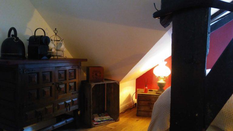 Ferienunterkunft Monschau Zimmer rot Ansicht